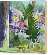 Chautauqua House Wood Print