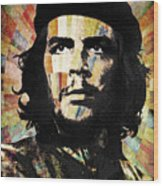Che Guevara Revolution Gold Wood Print