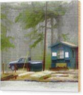 Cheaha Lake Wood Print