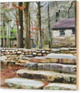 Cheaha State Park In The Fall Wood Print