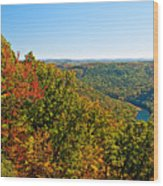 Cheat River Wood Print