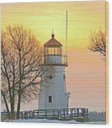 Cheboygan Harbor Light 2 Wood Print