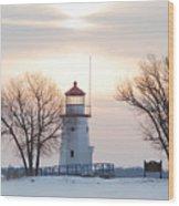 Cheboygan Harbor Light Wood Print