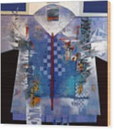 Checkered Kimono Wood Print