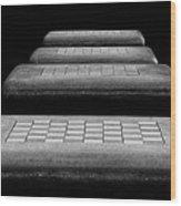 Checkered Steps Wood Print