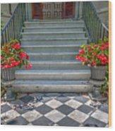 Checkered Tile Wood Print