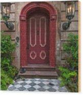 Checkered Tiles Wood Print