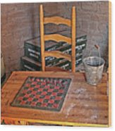 Checkers Anyone Wood Print