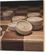 Checkers II Wood Print by Tom Mc Nemar