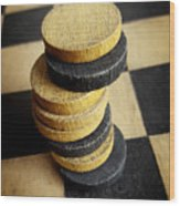 Checkers On A Checkerboard Wood Print