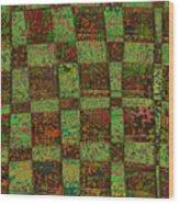 Checkoff Abstract Pattern Wood Print
