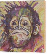 Cheeky Lil' Monkey Wood Print