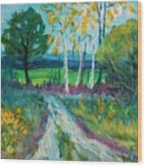 Cheerful Path Wood Print