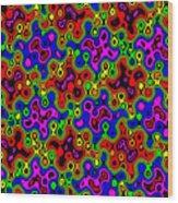 Cheerios Pattern Wave Wood Print