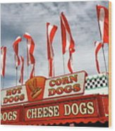 Cheese Dogs Galore Wood Print