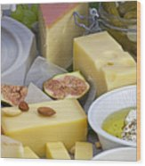 Cheese Plate Wood Print