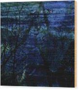 Cheetah Blue Wood Print