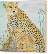 Cheetah Family Wood Print