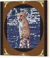 Cheetah Lean And Mean Wood Print