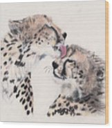 Cheetah Love Wood Print