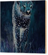 Cheetah Running Wood Print