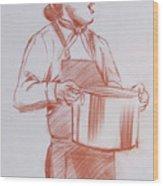 Chef 6 Wood Print