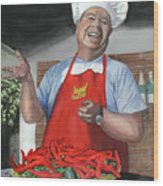 Chef Fernando Wood Print