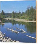 Chehalis River Washington Wood Print by Laurie Kidd