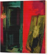 Chelsea Hotel Abstract Wood Print