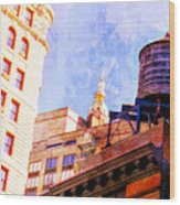 Chelsea Water Tower Wood Print