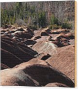 Cheltenham Badlands Wood Print