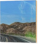 Chem Trails Valley Of Fire  Wood Print