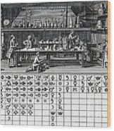Chemical Lab With Proto-periodic Table Wood Print