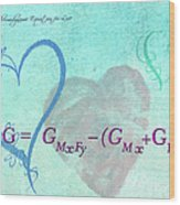 Chemical Thermodynamic Equation For Love Wood Print