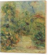 Chemin Aux Collettes Avec Tilleul Wood Print