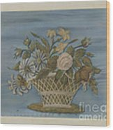 Chenille Embroidery Wood Print