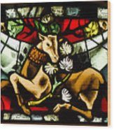 Chenonceau Stained Glass Wood Print