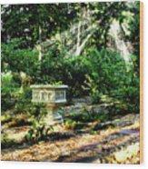 Cherie's Garden Wood Print
