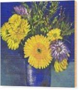 Cheris Flowers Wood Print