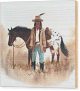 Cherokee Lighthorse Wood Print