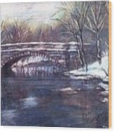 Cherokee Park Bridge Wood Print