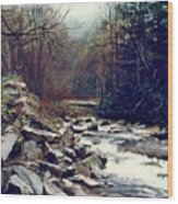 Cherokee Stream Wood Print
