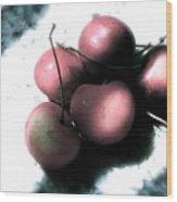 Cherries In The Light Wood Print