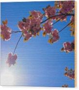Cherries In The Sky Wood Print