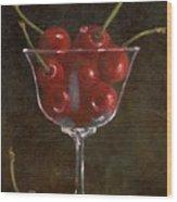 Cherries Jubilee Wood Print