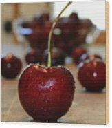 Cherry 2 Wood Print