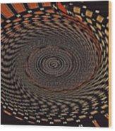 Cherry Basket Weaving Abstract Wood Print