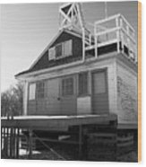 Cherry Beach Boat House Wood Print