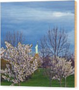 Cherry Blossom Liberatum Wood Print