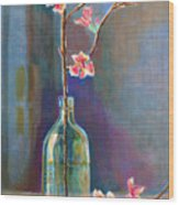 Cherry Blossoms In A Bottle Wood Print
